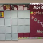 poetry month bulletin board